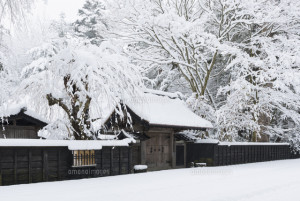 雪の武家屋敷